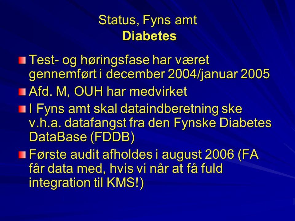Status, Fyns amt Diabetes