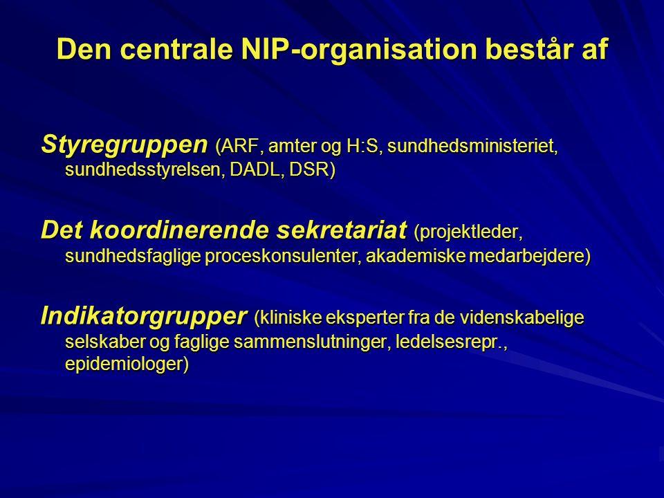 Den centrale NIP-organisation består af