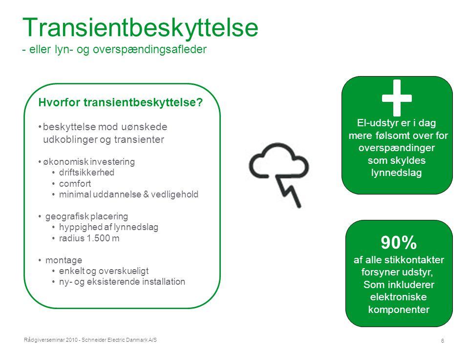 Transientbeskyttelse - eller lyn- og overspændingsafleder
