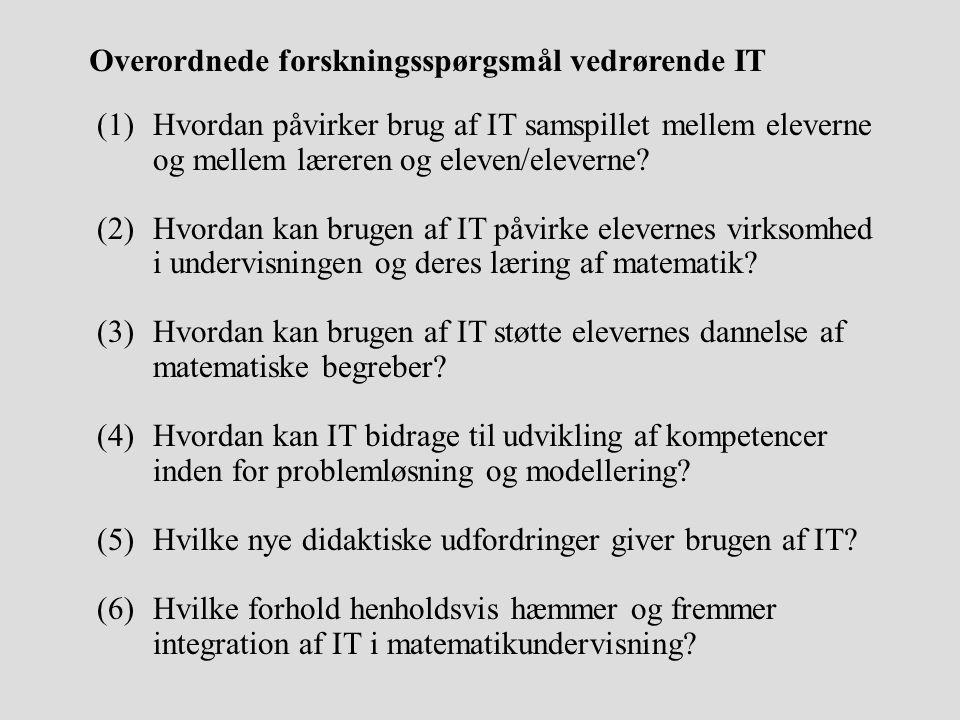 Overordnede forskningsspørgsmål vedrørende IT