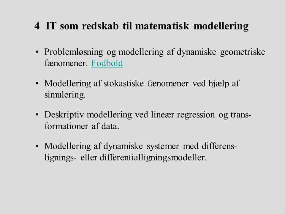 4 IT som redskab til matematisk modellering