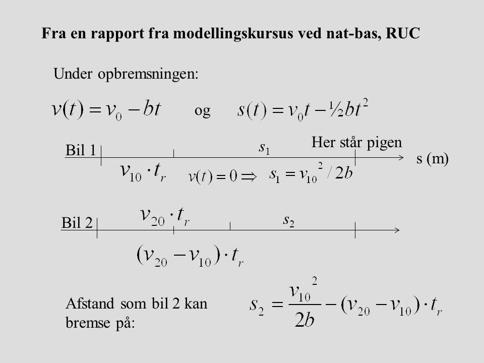 Fra en rapport fra modellingskursus ved nat-bas, RUC
