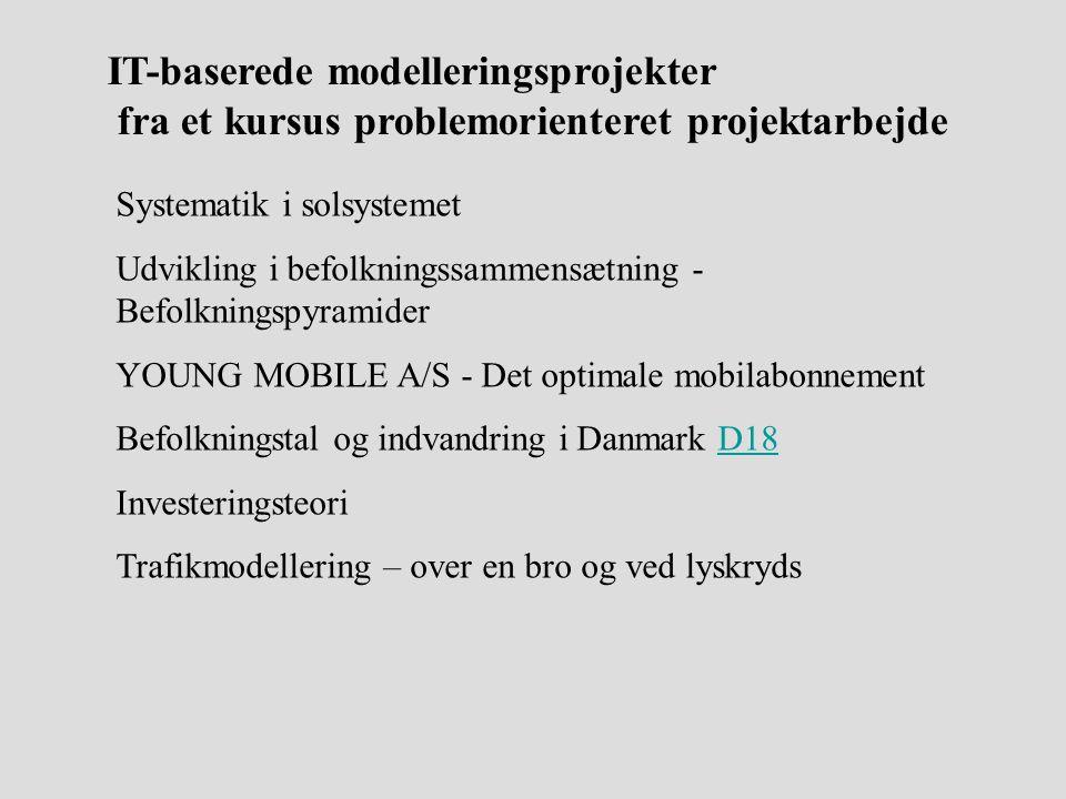 IT-baserede modelleringsprojekter