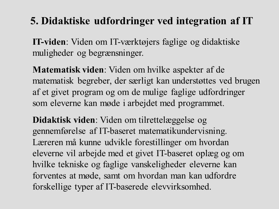 5. Didaktiske udfordringer ved integration af IT