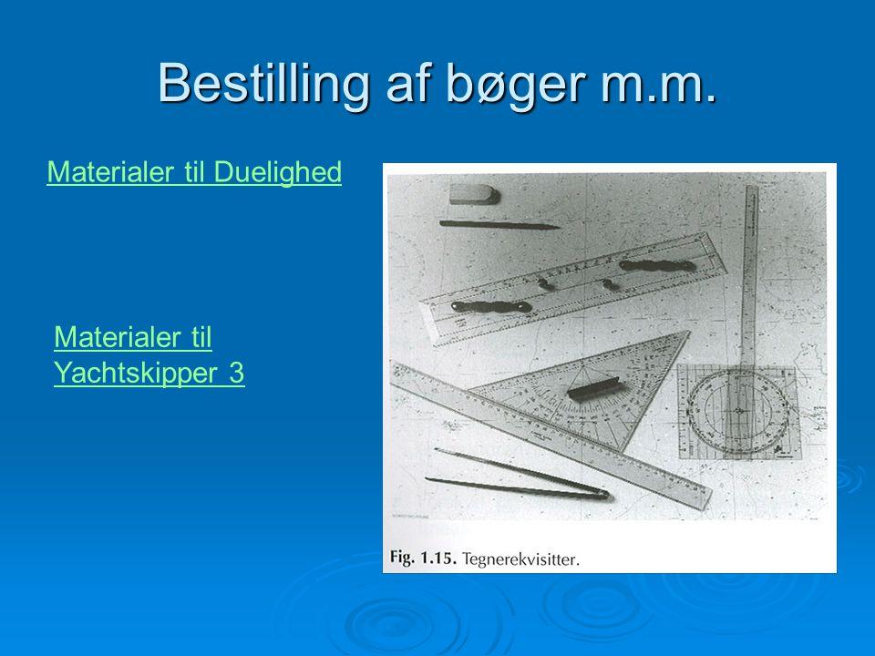 Bestilling af bøger m.m. Materialer til Duelighed