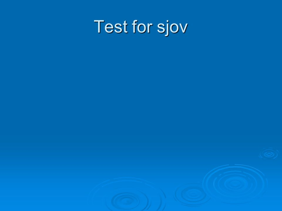 Test for sjov