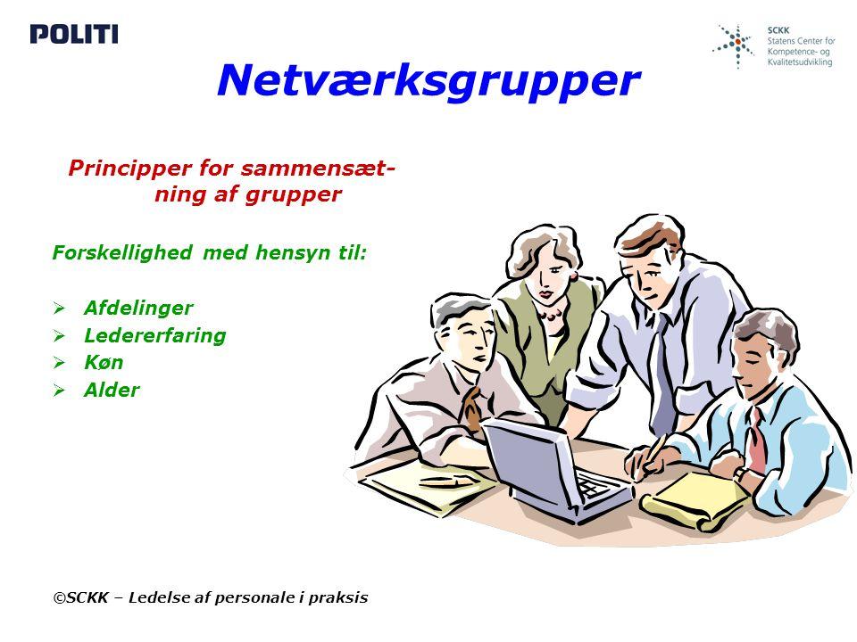 Principper for sammensæt-ning af grupper