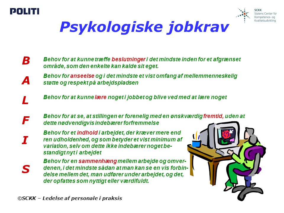 Psykologiske jobkrav B A L F I S