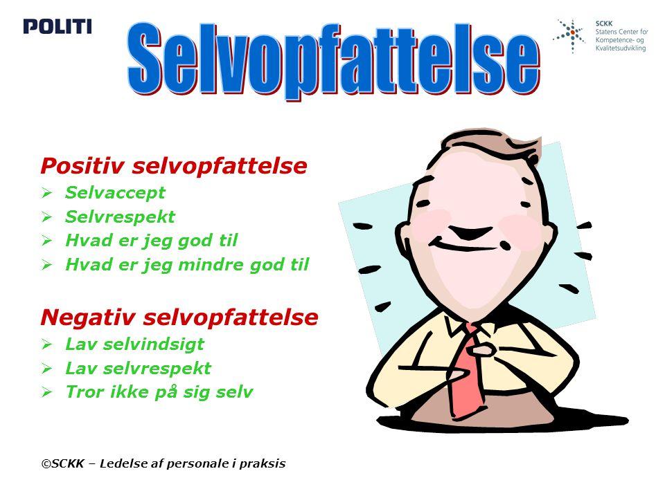 Selvopfattelse Positiv selvopfattelse Negativ selvopfattelse