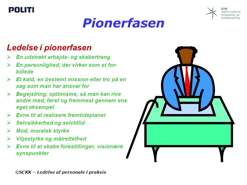 Pionerfasen Ledelse i pionerfasen En udstrakt arbejds- og skabertrang