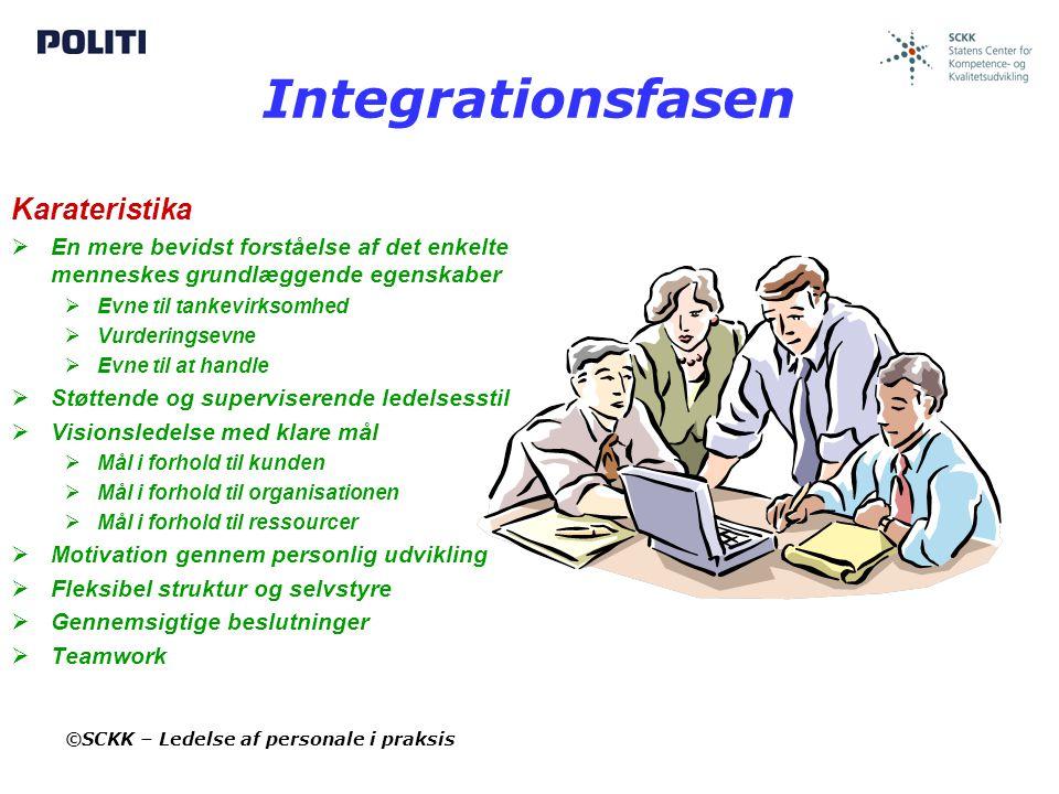 Integrationsfasen Karateristika