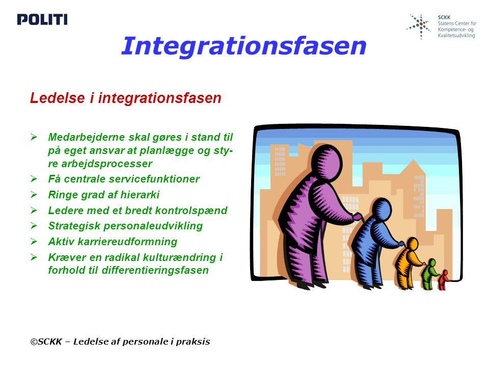 Integrationsfasen Ledelse i integrationsfasen