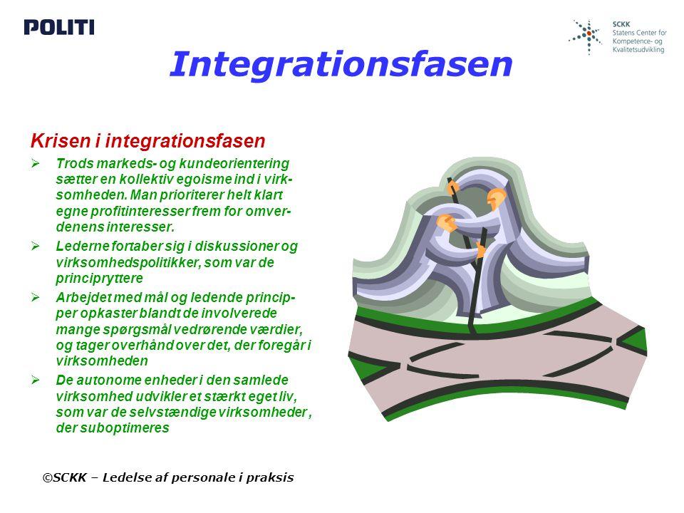 Integrationsfasen Krisen i integrationsfasen