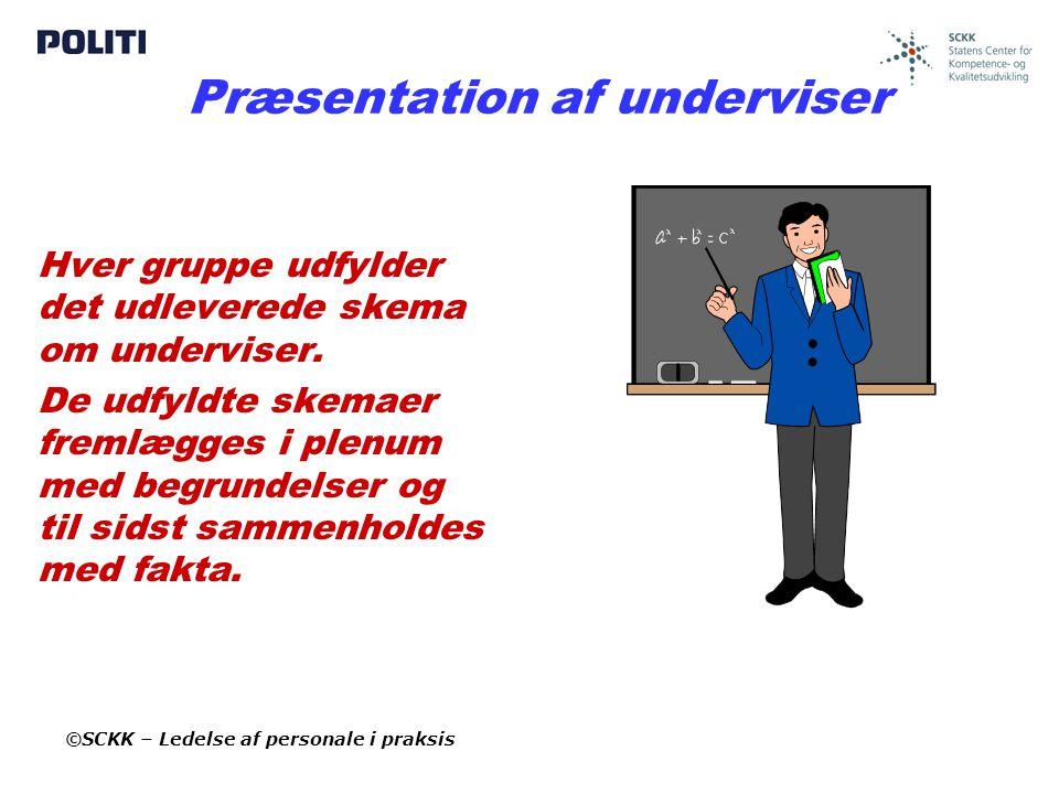 Præsentation af underviser