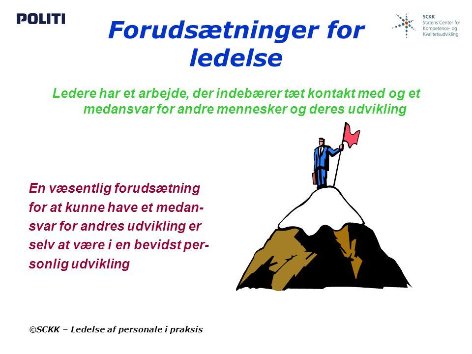 Forudsætninger for ledelse