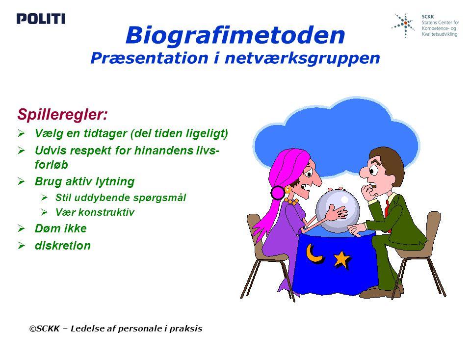 Biografimetoden Præsentation i netværksgruppen