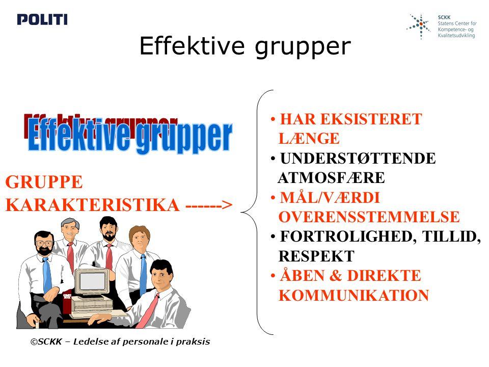 Effektive grupper Effektive grupper GRUPPE KARAKTERISTIKA ------>