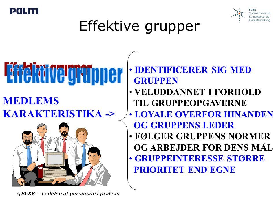 Effektive grupper Effektive grupper MEDLEMS KARAKTERISTIKA ->