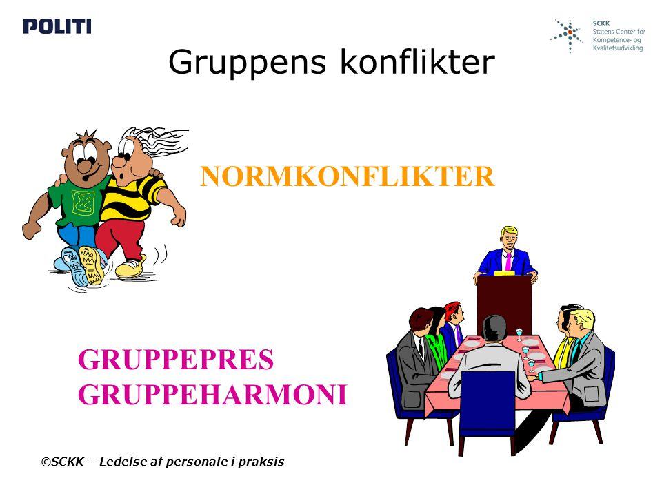 Gruppens konflikter NORMKONFLIKTER GRUPPEPRES GRUPPEHARMONI