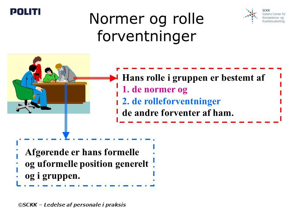 Normer og rolle forventninger