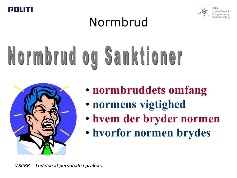 Normbrud og Sanktioner