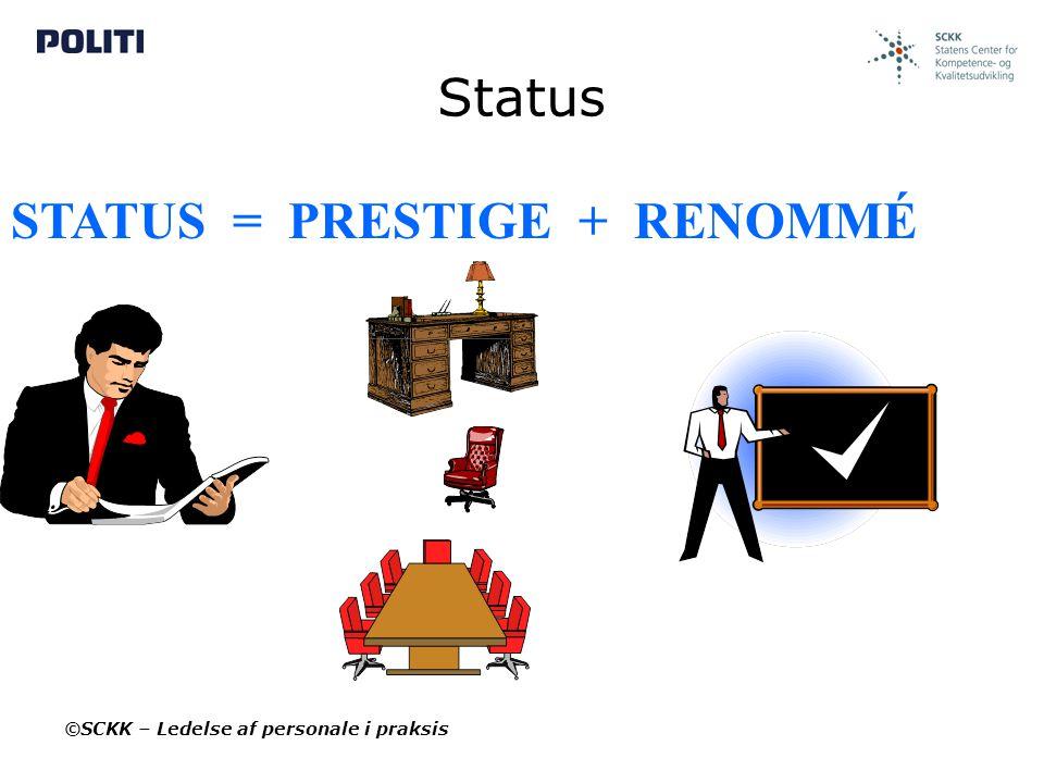 STATUS = PRESTIGE + RENOMMÉ