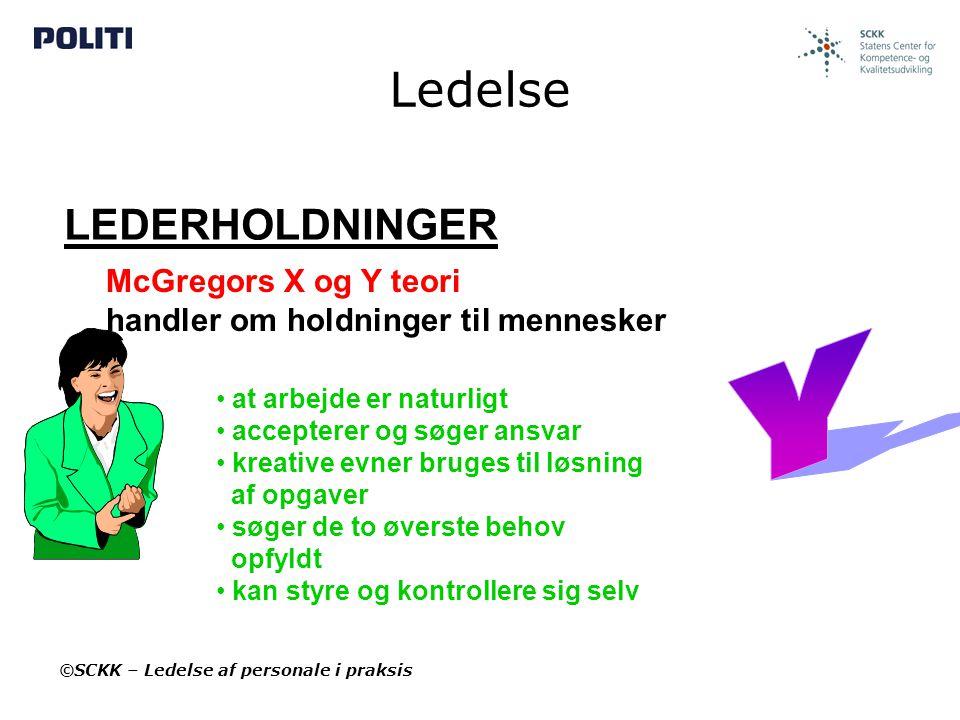 Ledelse Y LEDERHOLDNINGER McGregors X og Y teori