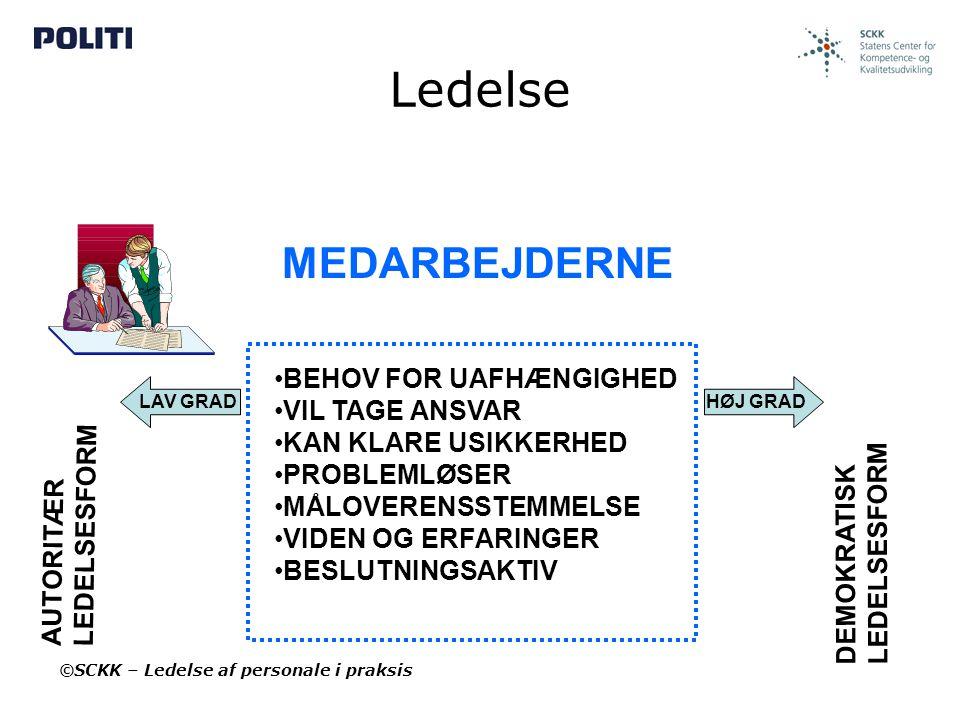 Ledelse MEDARBEJDERNE BEHOV FOR UAFHÆNGIGHED VIL TAGE ANSVAR