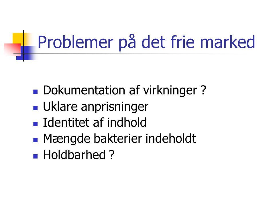 Problemer på det frie marked