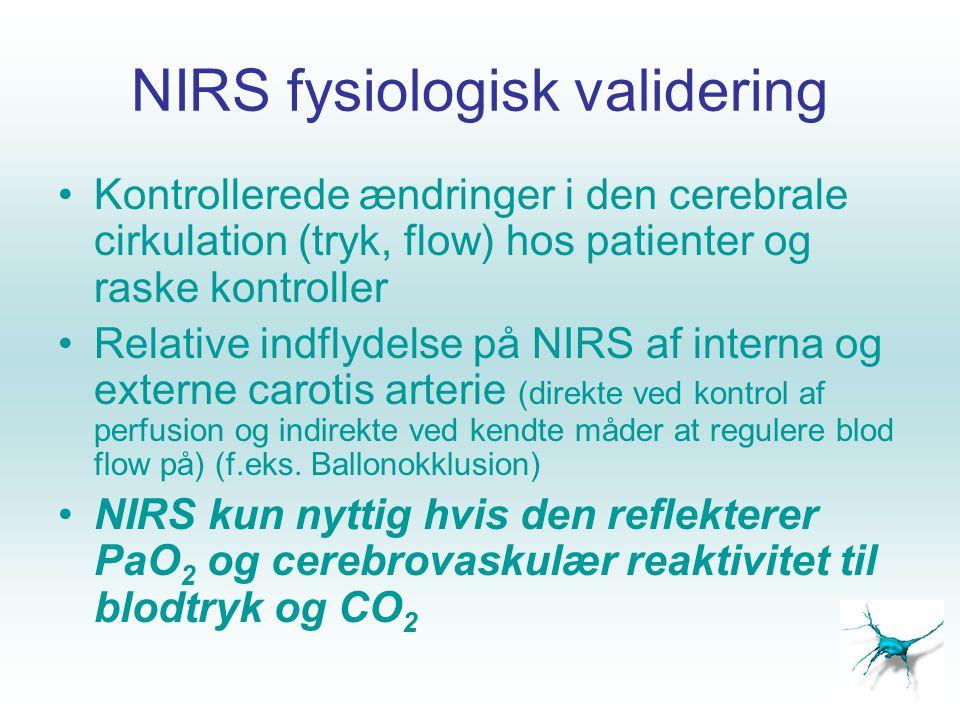 NIRS fysiologisk validering
