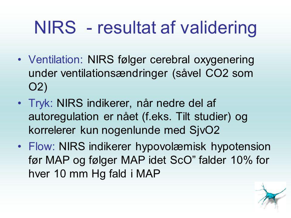 NIRS - resultat af validering