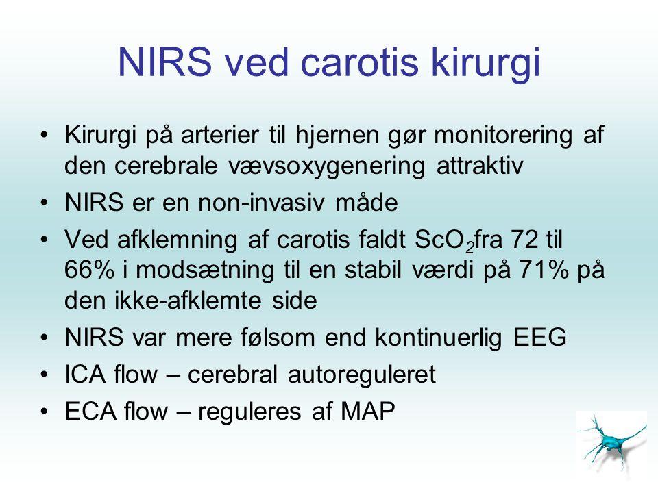NIRS ved carotis kirurgi