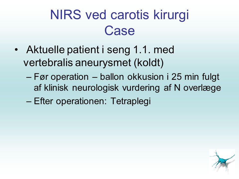 NIRS ved carotis kirurgi Case