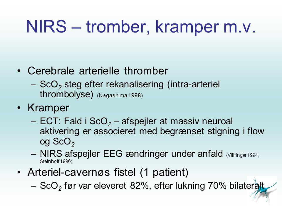 NIRS – tromber, kramper m.v.