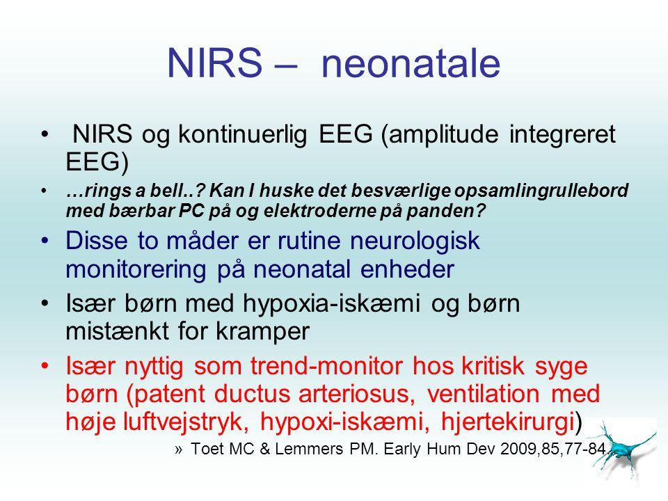 NIRS – neonatale NIRS og kontinuerlig EEG (amplitude integreret EEG)