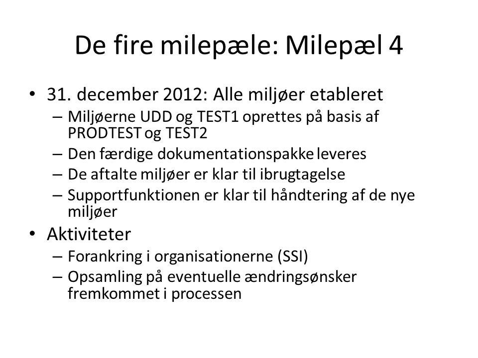 De fire milepæle: Milepæl 4