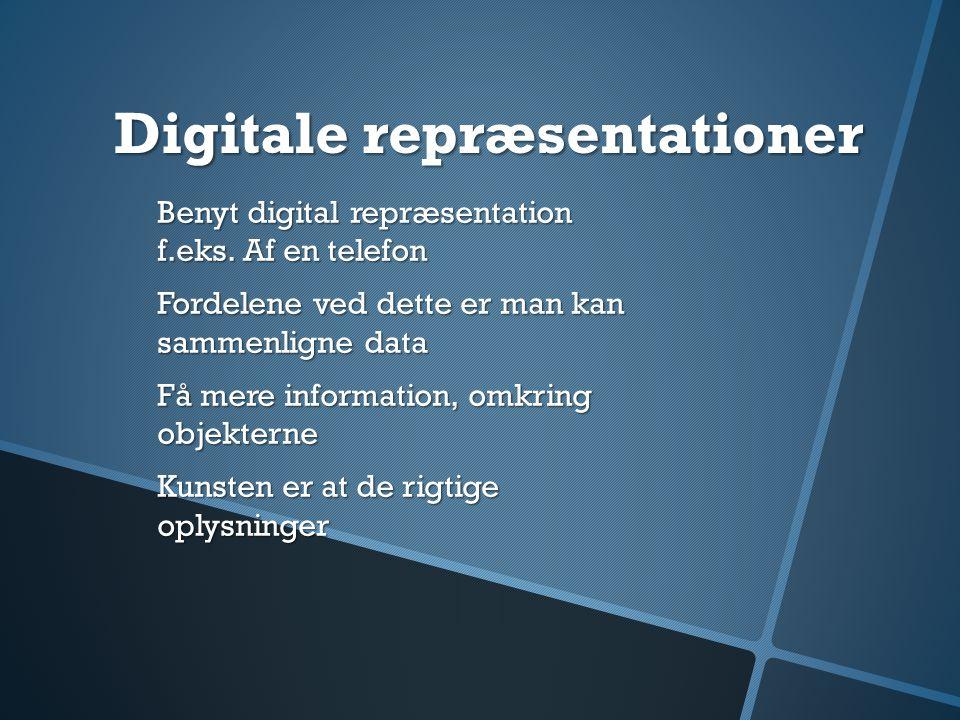 Digitale repræsentationer