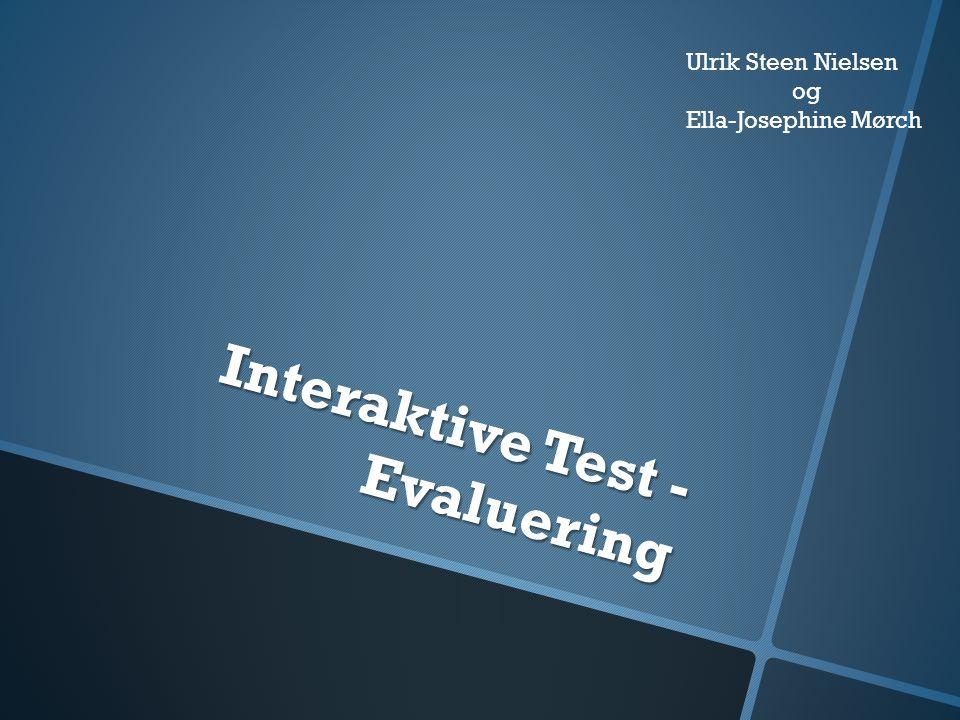 Interaktive Test - Evaluering