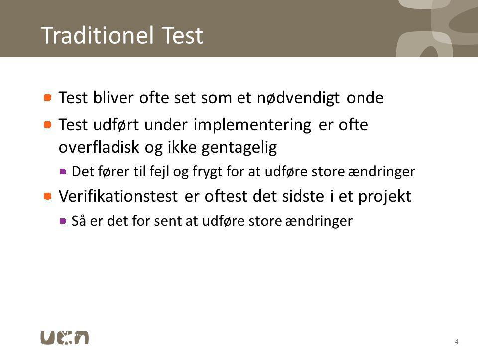 Traditionel Test Test bliver ofte set som et nødvendigt onde