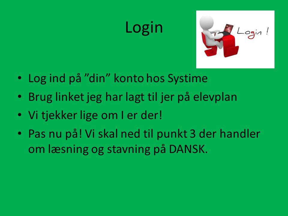 Login Log ind på din konto hos Systime