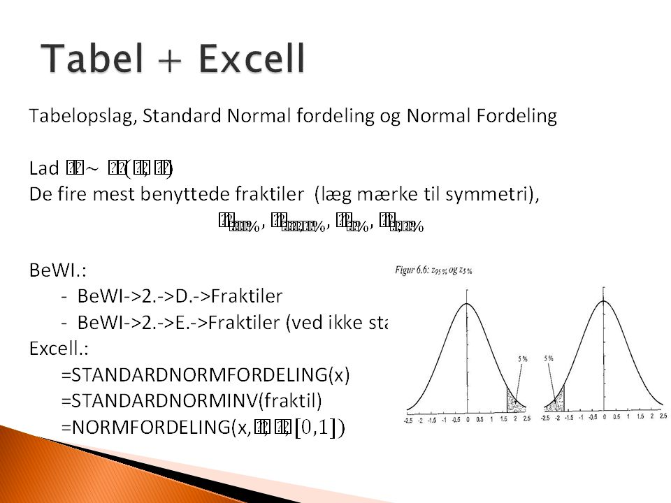 Tabel + Excell