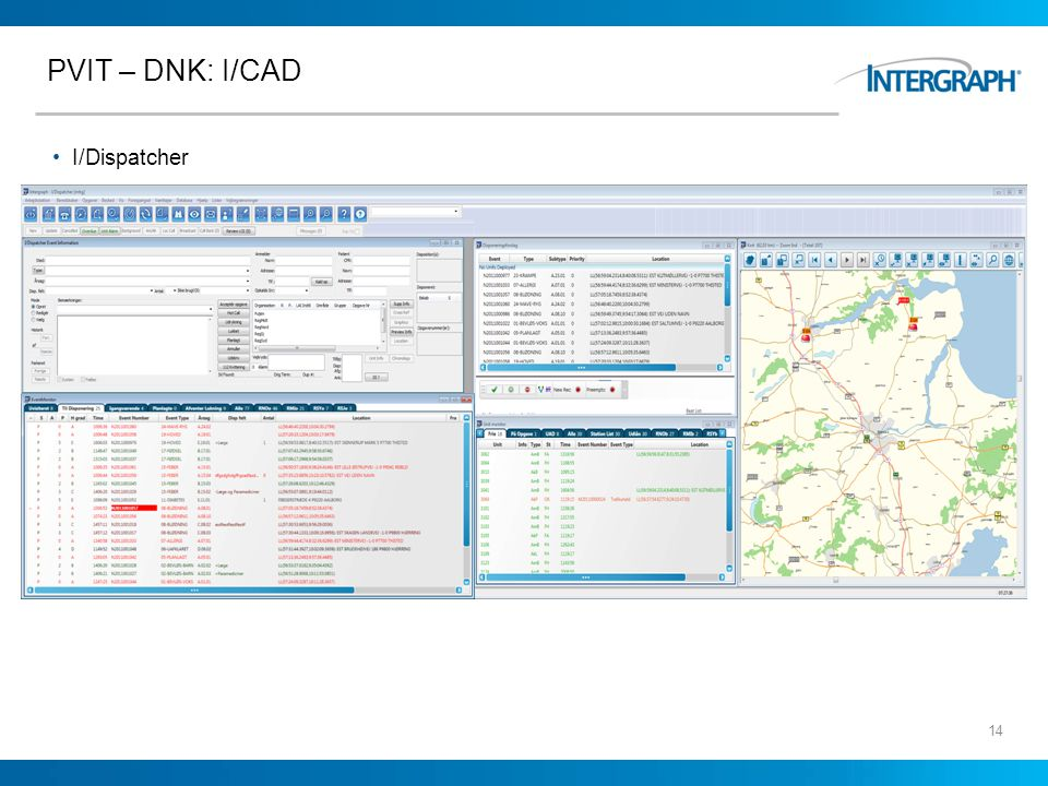 PVIT – DNK: I/CAD I/Dispatcher