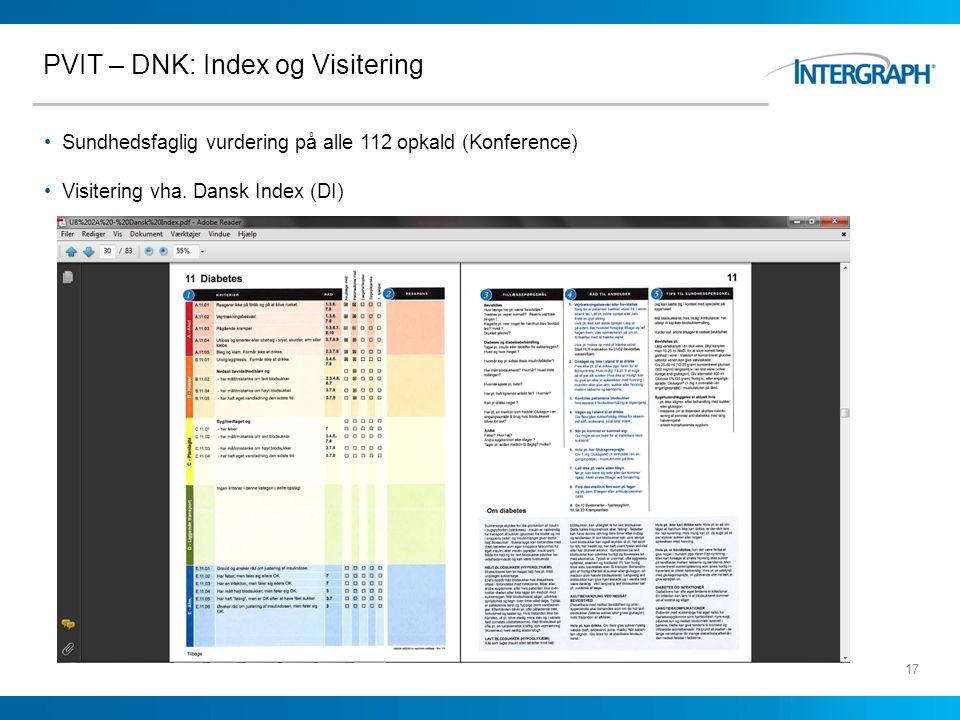 PVIT – DNK: Index og Visitering