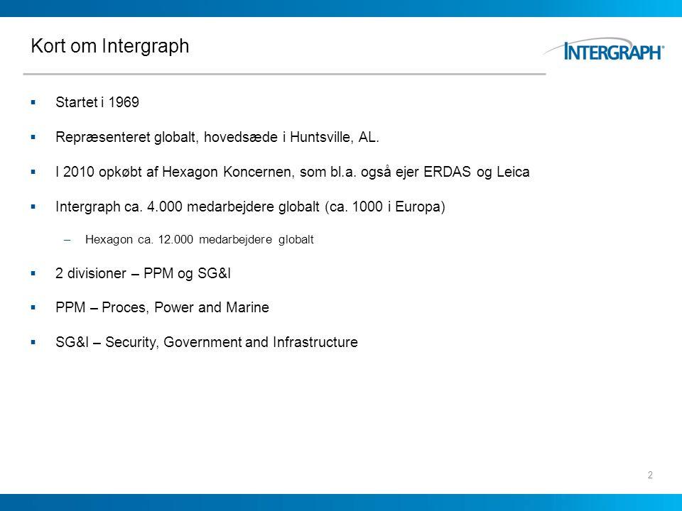 Kort om Intergraph Startet i 1969