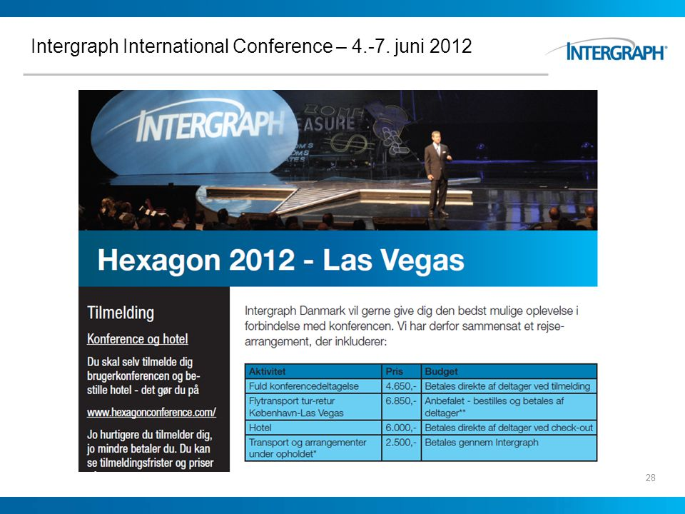 Intergraph International Conference – 4.-7. juni 2012