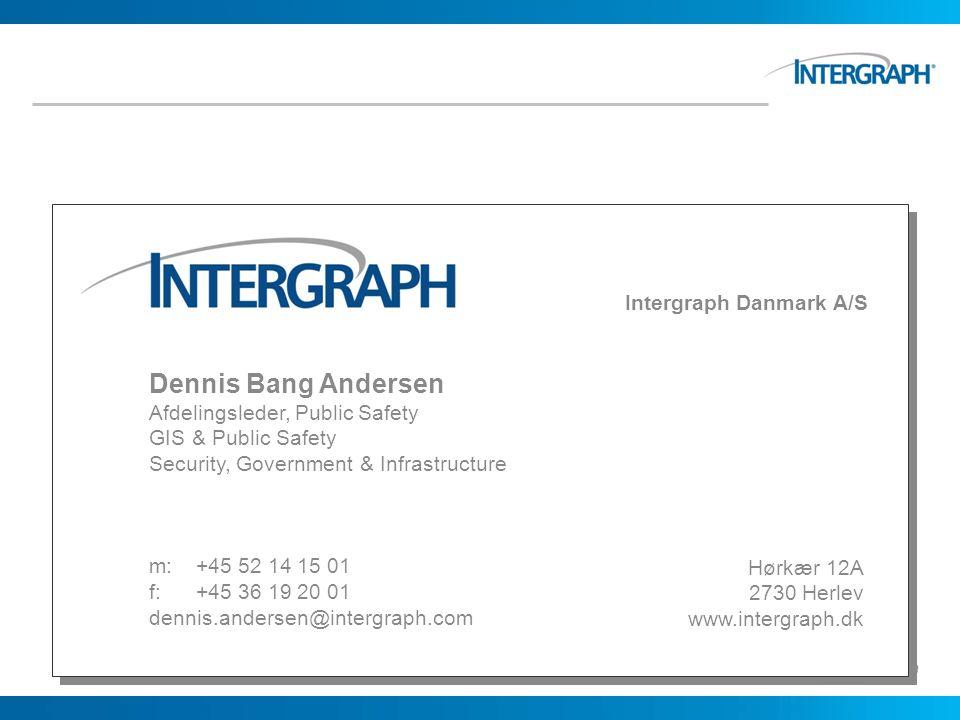 Dennis Bang Andersen Intergraph Danmark A/S