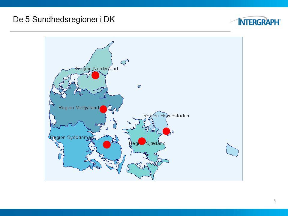 De 5 Sundhedsregioner i DK