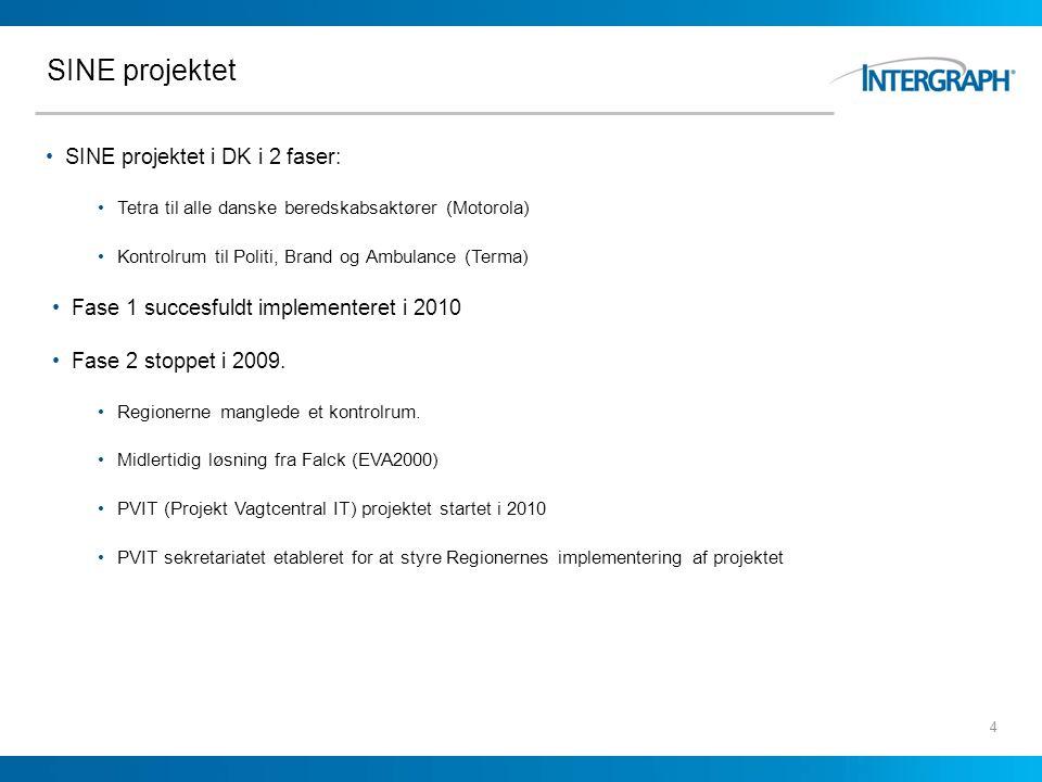 SINE projektet SINE projektet i DK i 2 faser: