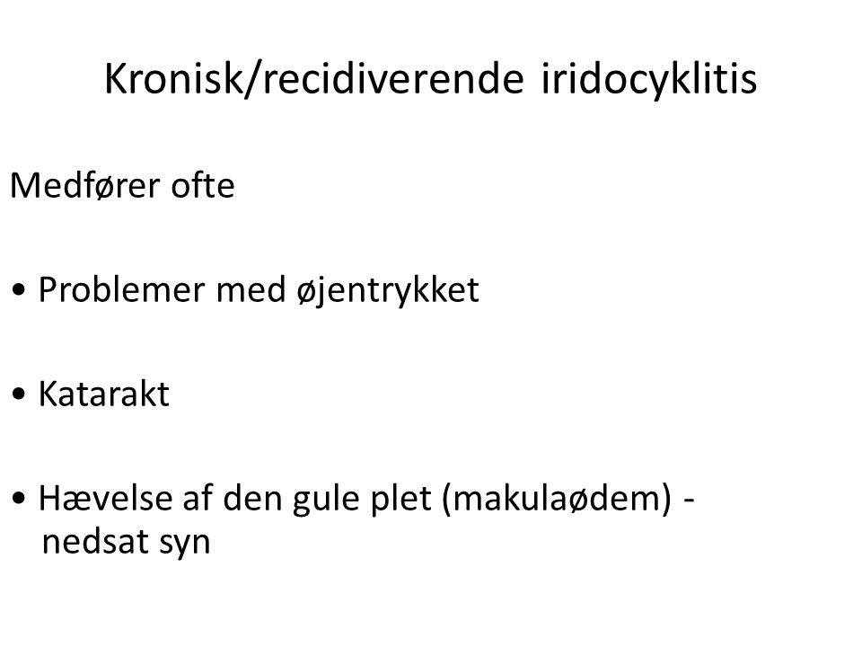 Kronisk/recidiverende iridocyklitis