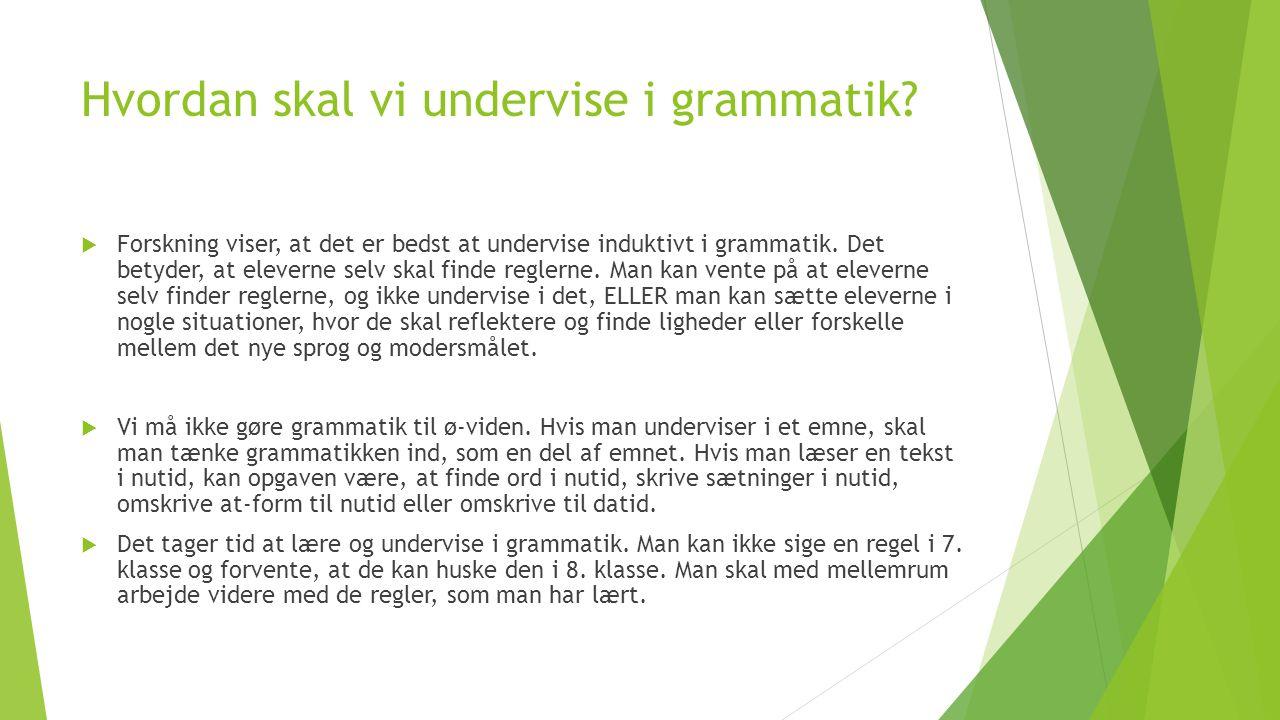 Hvordan skal vi undervise i grammatik